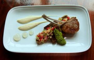 Spring lamb with caponata salsa is just one of the things The Bank does well.