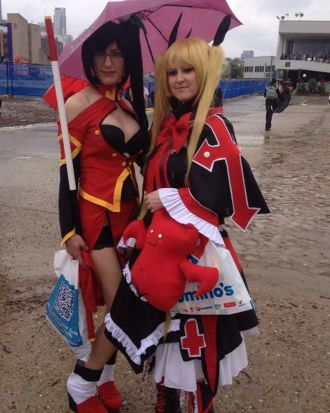 Tash as Litchi Faye Ling and Meg as Rachel Alucard from Blazblue.
