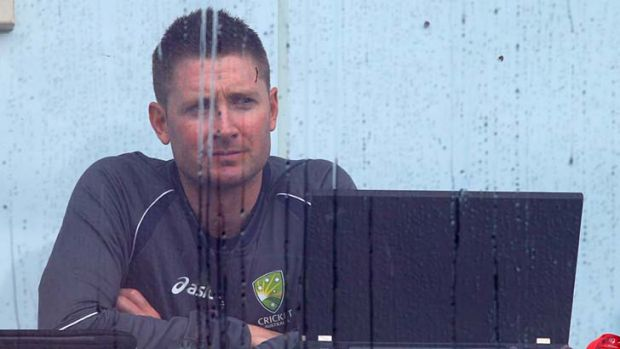 Careless whispers … Michael Clarke looks wistful at the Gabba on Saturday, though a leaked dossier suggests it may ...
