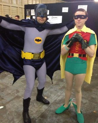 Roy and Brad go old school Batman and Robin.