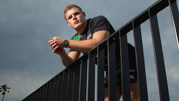 Eyes on top grade … Tom Burgess is the latest Burgess brother to join the Rabbitohs.