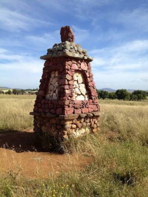 One of the second set of pillars at Environa.