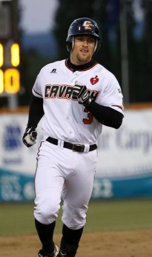 Canberra Cavalry's Ryan Stovall hit a two-run home run and batted in three more runs on Saturday night.