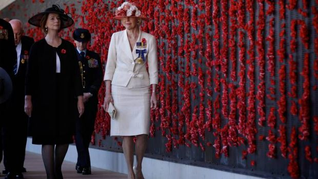 Remembrance Day ceremony at the Australian War Memorial in Canberra ... Prime Minister Julia Gillard and ...