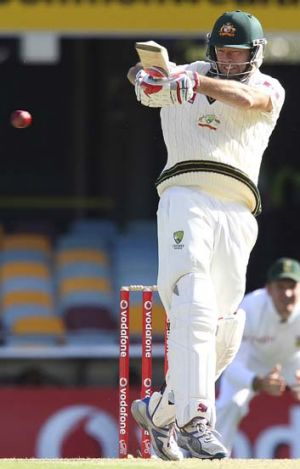 Determined ... Rob Quiney has at least looked the part of a Test cricketer.