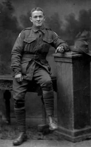 Private David Morgan, who was killed in France in 1918.