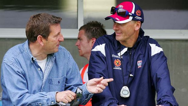 """""""Sydney would be crazy to lose him, because he has so much to offer as a coach"""" ... Jets coach Gary van Egmond, right, ..."""
