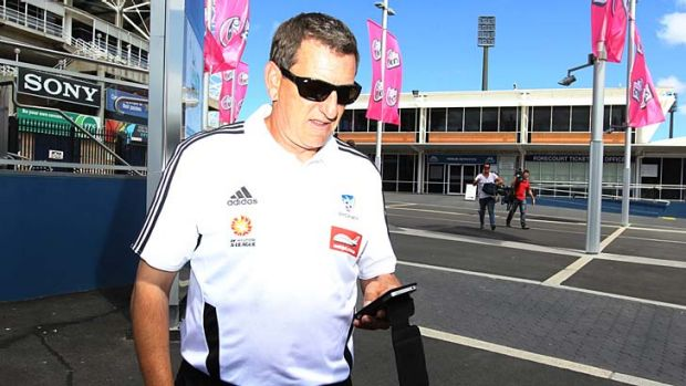 Exit door … Ian Crook after announcing his resignation from Sydney FC just six games into the job.
