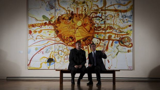 Director of The British Museum, Neil MacGregor, right, is in Canberra to deliver the Robert Hughes Lecture. National ...