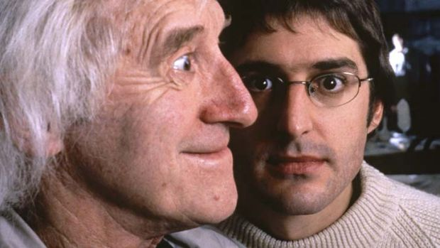 Sinister vibe ... Jimmy Savile and Louis Theroux.