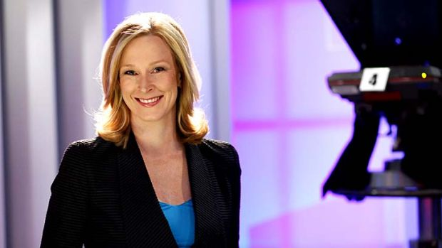 Focused and tenacious ... <i>7.30</i> presenter Leigh Sales bristles with energy.