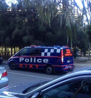 A Critical Incident Response Team vehicle at a Dockland's park.