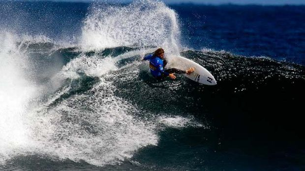 Mark Occhilupo carves out a turn at the Margaret River Pro earlier this year.