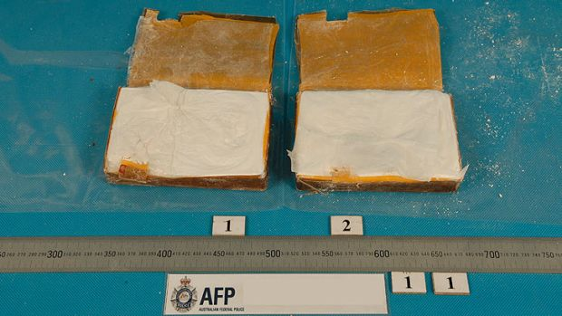 Part of a haul of 58 kilograms of heroin seized by police.