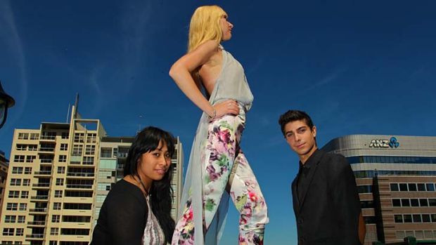 The complete package ... designers Phoenix Keating, Janice Lealamanua and a model wearing one of her designs.