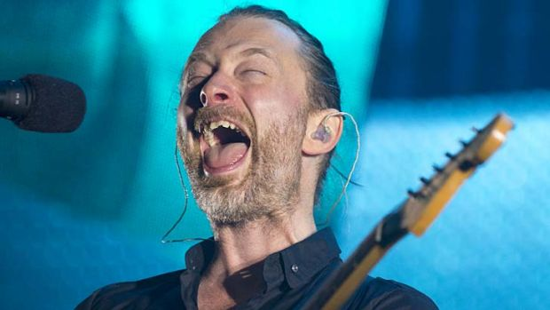 Devoted following ... Radiohead frontman Thom Yorke.