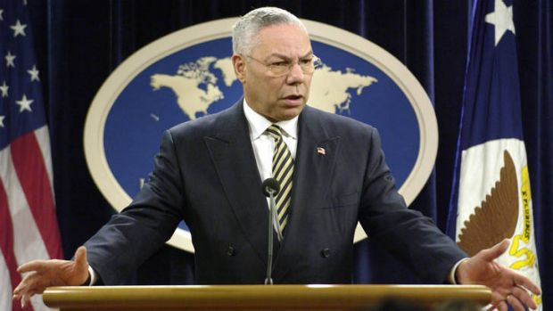 Colin Powell as U.S. Secretary of State.
