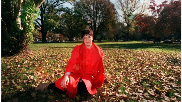 British author Joanne Harris in the Carlton Gardens in Melbourne.