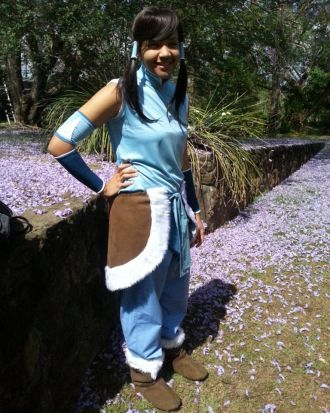 Dom George as Korra from 'Avatar: The Legend of Korra'.