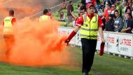 Dandenong supporters celebrate with flare  (Video Thumbnail)