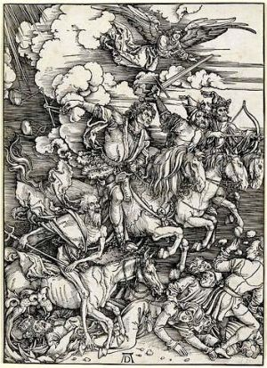 Albrecht Dürer's <i>The Four Horsemen of the Apocalypse</i>.