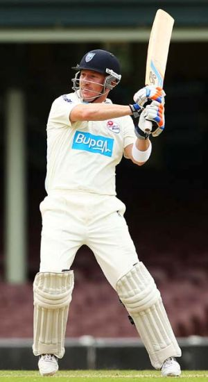 Brad Haddin in full flow against the Bushrangers.