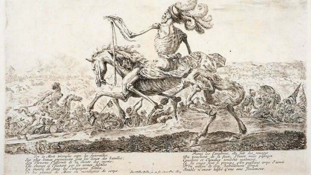 Stefano della Bella's <i>Death on the Battlefield</i> etching.