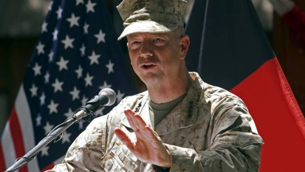 US General John Allen .. yet to hrie a high-profile representative.