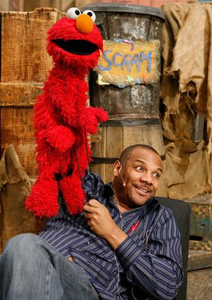 Kevin Clash with Elmo.