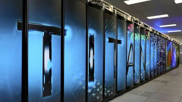 The US Oak Ridge National Laboratory's Titan supercomputer, seen here in an undated handout picture, has been named the ...