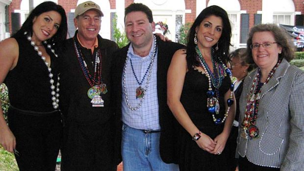 Controversy ... from left, Natalie Khawam, General David Petraeus, Scott Kelley, Jill Kelley and Holly Petraeus watch ...