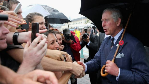 Popular … Prince Charles at Bondi this month.