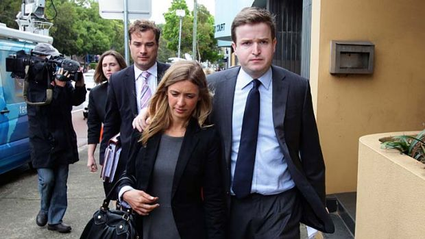 Roberto Laudisio Curti's sister, Ana Lusia Laudisio de Lucca , leaving the Glebe Coroners Court with her husband Michael ...