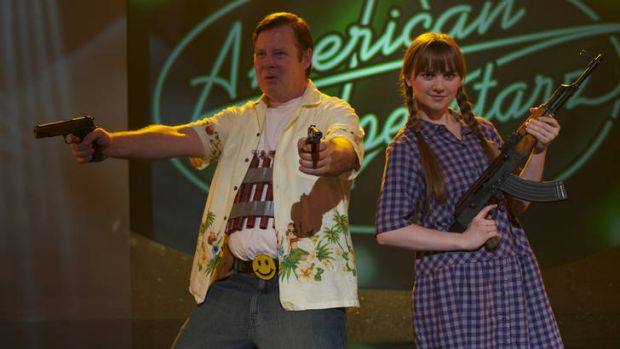 Joel Murray and Tara Lynne Barr in <i>God Bless America. </I>