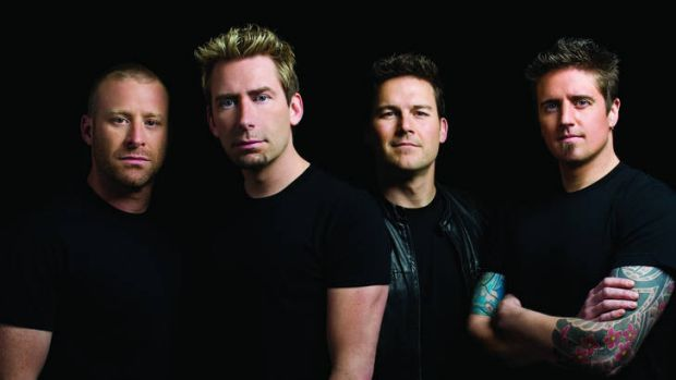 The joke's on us … Chad Kroeger (front) and his band Nickelback have sold 50 million albums.