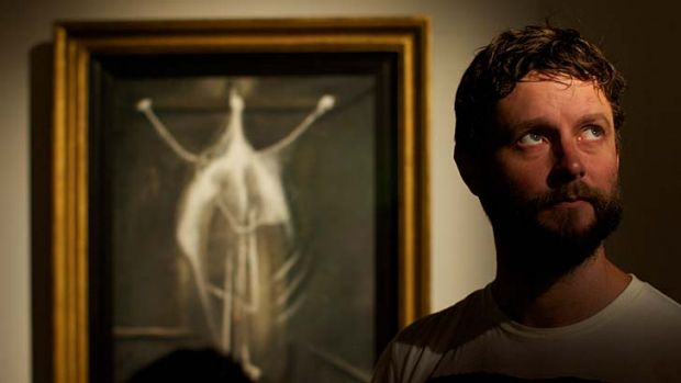 Cathartic ... Ben Quilty with Crucifixion 1933 at the Art Gallery of NSW.