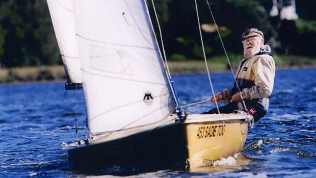 Passionate sailor ... Ashley Chapman in his beloved dinghy.