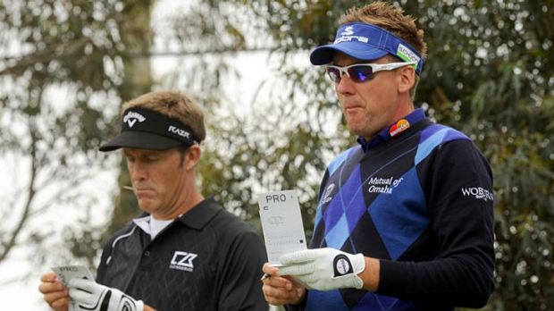 Study in contrasts: Stuart Appleby and Ian Poulter