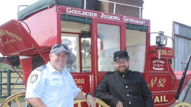 A mail coach, owned by a Jugiong local, will be used in a historical re-enactment of the gun battle between Sergeant ...