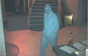 An image issued by police showing one the men who robbed the Italo-Australian club on June 28.