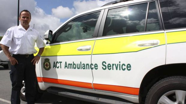 Ian Roebuck, call taker for the ACT Ambulance Service.