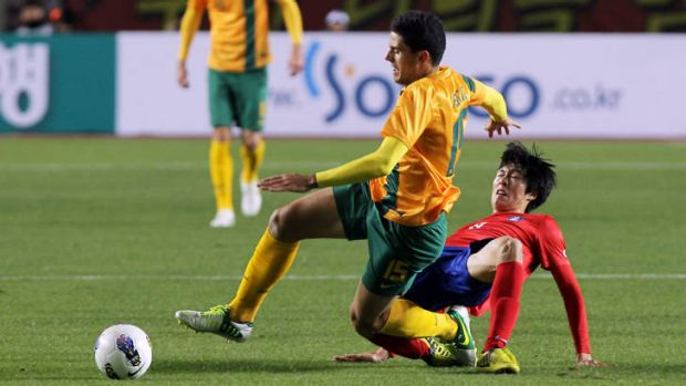 Tom Rogic in action against South Korea.