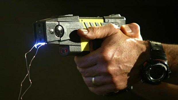 A woman has had surgery after being Tasered in the eye by police.