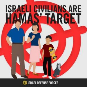 A copy of the poster, taken from the Israel Defence Forces official Tumblr blog.