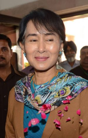 Aung San Suu Kyi ... met Travis to thank him for World Service program.