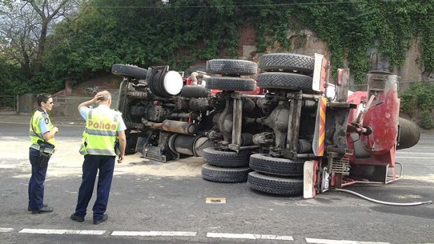 Police at the scene of a crash that has caused traffic woes in Melbourne's east.