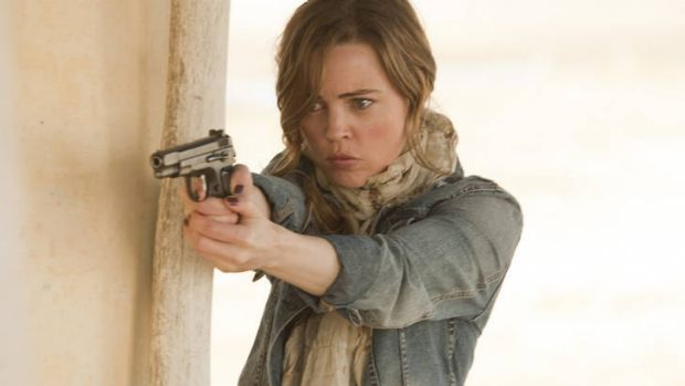 Committed … Melissa George plays Sam Hunter in <i>Hunted</i>.