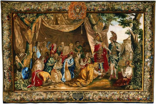 Tapestry: Alexander the Great and the family of Darius. From the series The Story of Alexander the Great, from the ...