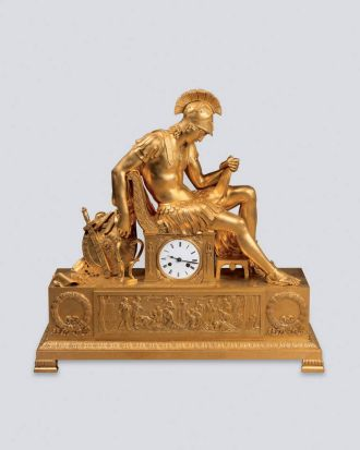 "A 19th-century clock called ""Mantle Clock: The Vigil of Alexander the Great"", from the Hermitage Museum in St ..."