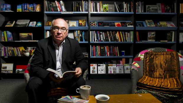 Owner, Peter Strong, in his store Smiths Alternative Bookshop in the Melbourne building in the City.
